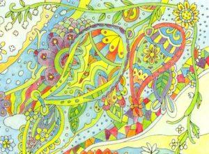 3原色塗り絵の拡大図