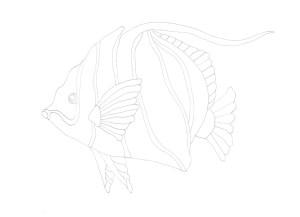 魚のなぞり絵