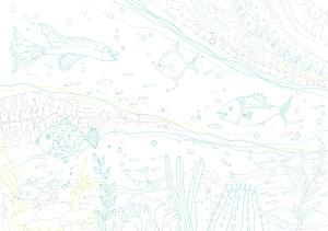 海の魚の塗り絵