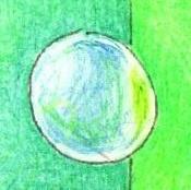 シャボン玉の塗り絵手本