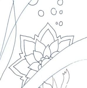 花の塗り絵の部分