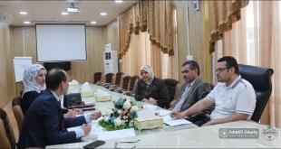 كلية التمريض تستضيف لجنة الأمن الصحي في الجامعة