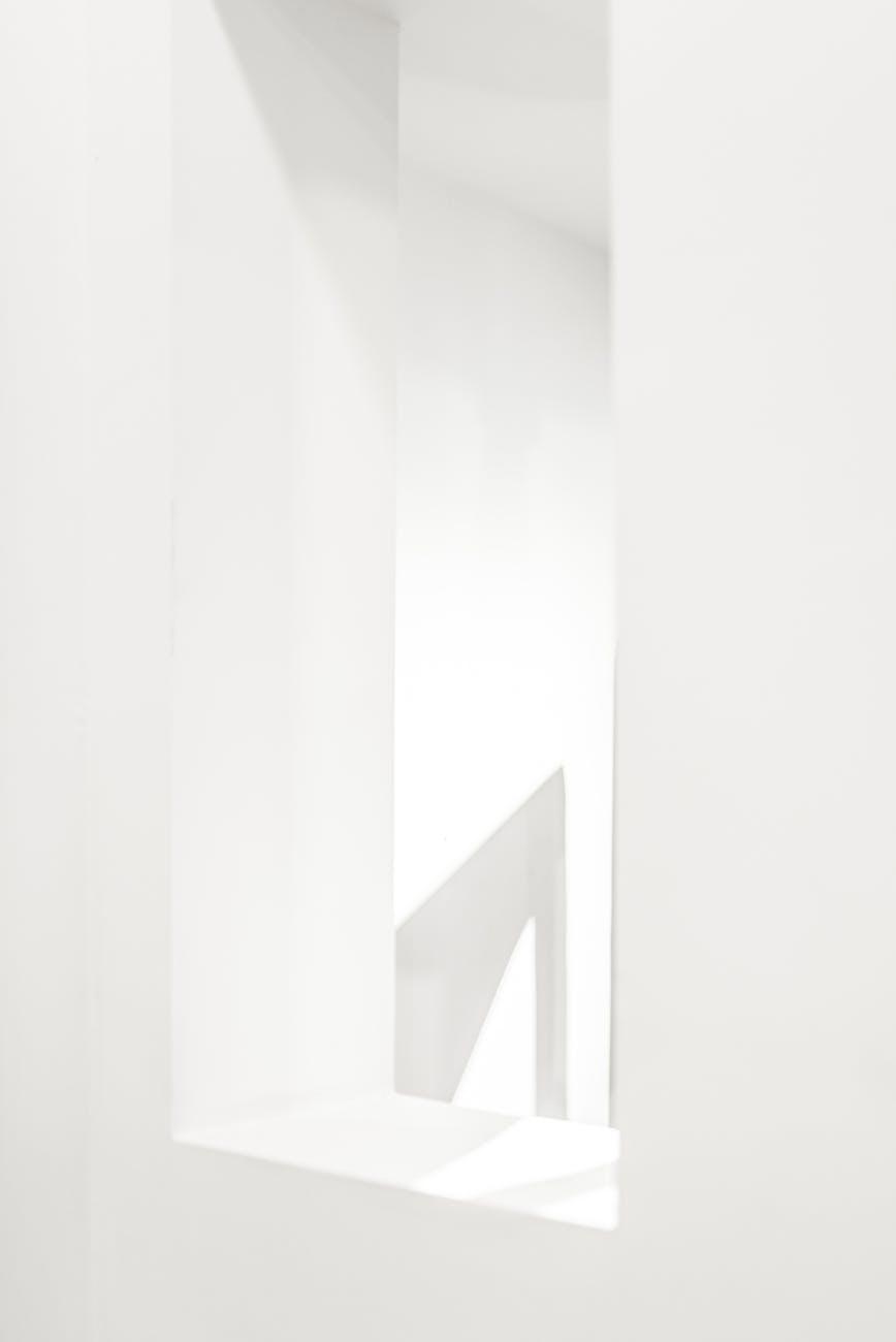 art abstract white design