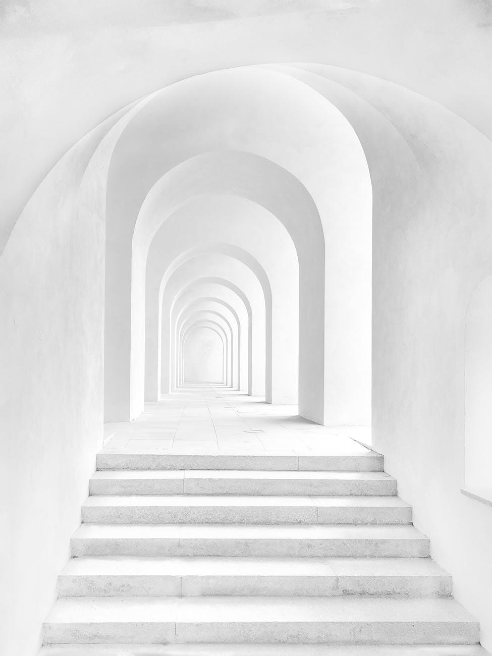 arches hallway inside building