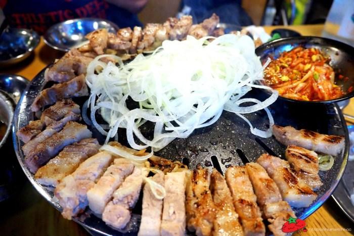 釜山|무한한파8.8.韓式烤肉三種set:豬五花、豬橫膈膜及豬皮都能吃到飽