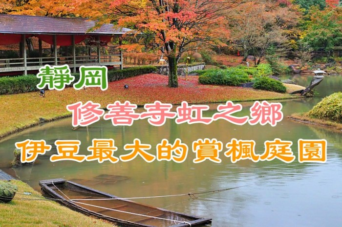 靜岡 修善寺虹之鄉.伊豆最大的賞楓庭園