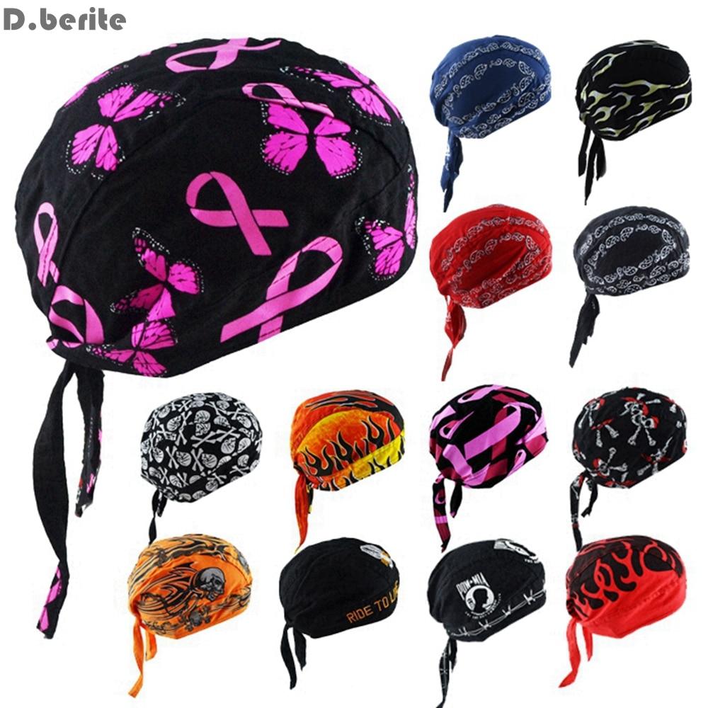 Cotton Flame Pattern Multicolor Pirates Hat Biker Bandana Scarf Head Wrap Unisex