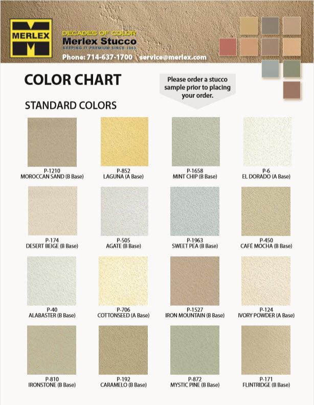 Imasco Stucco Color Chart