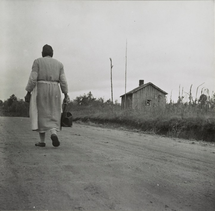 """""""Midwife going on a call,"""" 1941, Library of Congress"""