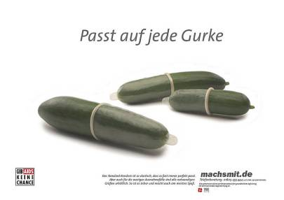 Poster from the German mach's mit campaign encouraging condom use.