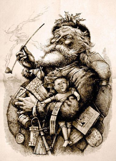 1881 illustration of Santa Claus by Thomas Nast