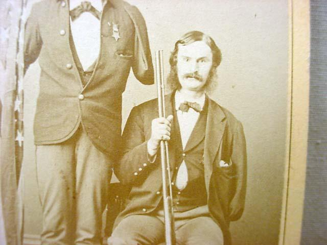 Civil War soldier with one arm