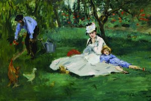 """Édouard Manet, """"The Monet Family in Their Garden at Argenteuil."""""""