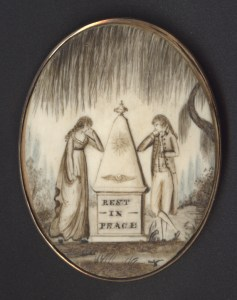 Mourning Locket, ca. 1800-1820. Courtesy of University of South Carolina