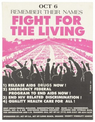 Poster by ACT-UP for an AIDS demonstration on October 6, 1989. (B. Rader/Wikipedia)