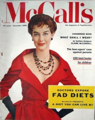 Cover of McCall's magazine, November 1956.