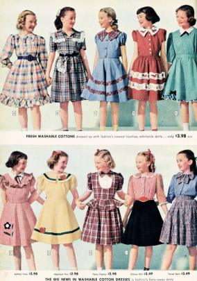 1948 Sears, Roebuck and Co. Catalog advertisements for dresses.