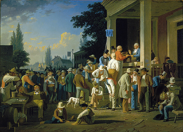 "George Caleb Bingham, ""The County Election,"" 1852. Oil on canvas. (Saint Louis Art Museum, St. Louis, MO)"