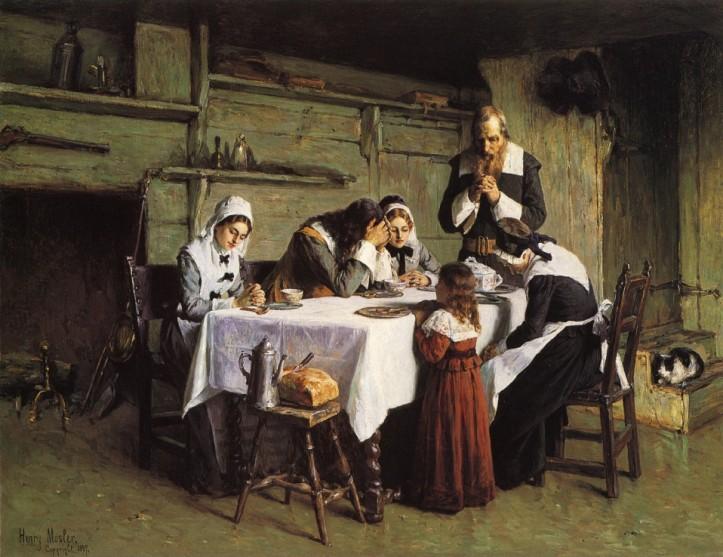 """Pilgrims' Grace,"" by Henry Mosler, 1897. (Allentown Art Museum of Lehigh Valley/The Athenaeum | Public Domain)"