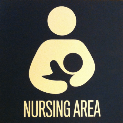 Nursing area sign