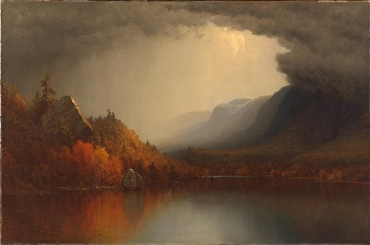 """Sanford Robinson Gifford, """"A Coming Storm,"""" 1863, retouched and redated in 1880. (Smithsonian American Art Museum)"""