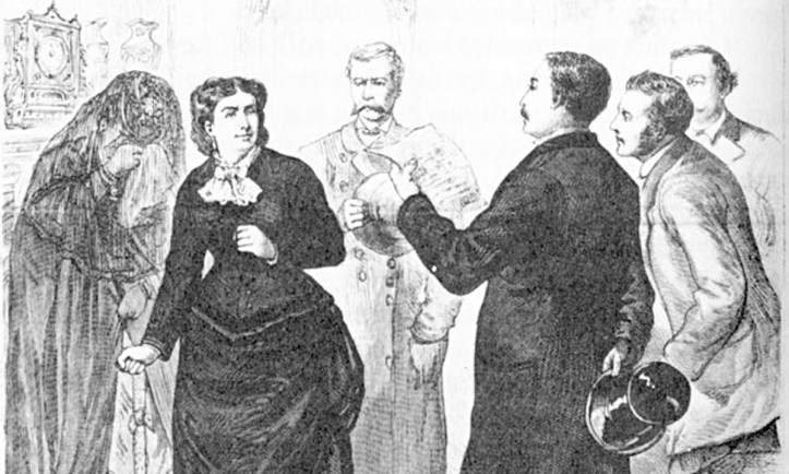 """The New York Illustrated Times reporting the arrest of """"Madame Restell"""" in 1878. (Public domain)"""