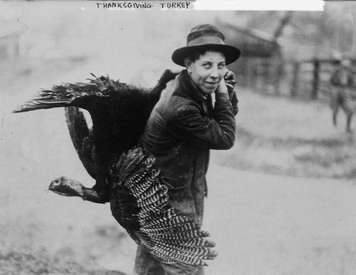 """Thanksgiving turkey,"" ca. 1910 and ca. 1915. (Bain News Service/Library of Congress | Public domain)"