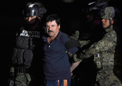 "Joaquin ""El Chapo"" Guzman arrested again in January 2016. (Alfredo Estrella/AFP/Getty)"
