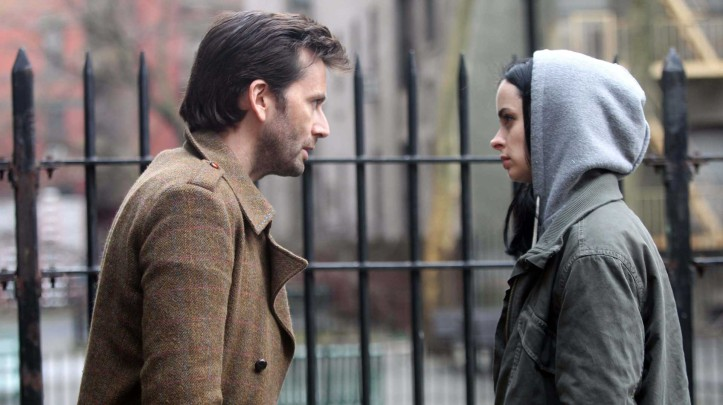 Jessica Jones (Krysten Ritter) and Kilgrave (David Tennant). (Netflix)