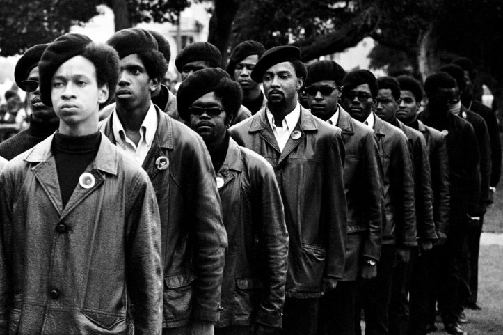 Panthers at a Free Huey rally in Defermery Park, Oakland, CA, 1968. (Stephen Shames/PBS)