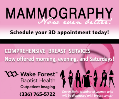 The ubiquitous pink is one part of the gendering of mammograms. (@WFBImaging/Twitter)