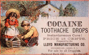 "Ad for ""cocaine toothache drops,"" from around 1880-1899. (US National Library of Medicine 