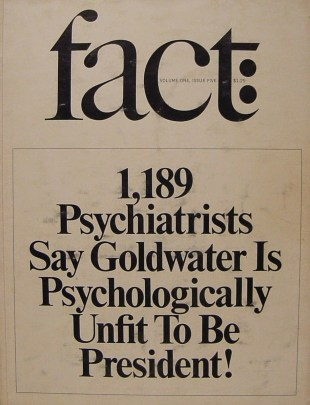 1964 Fact magazine issue on Barry Goldwater.