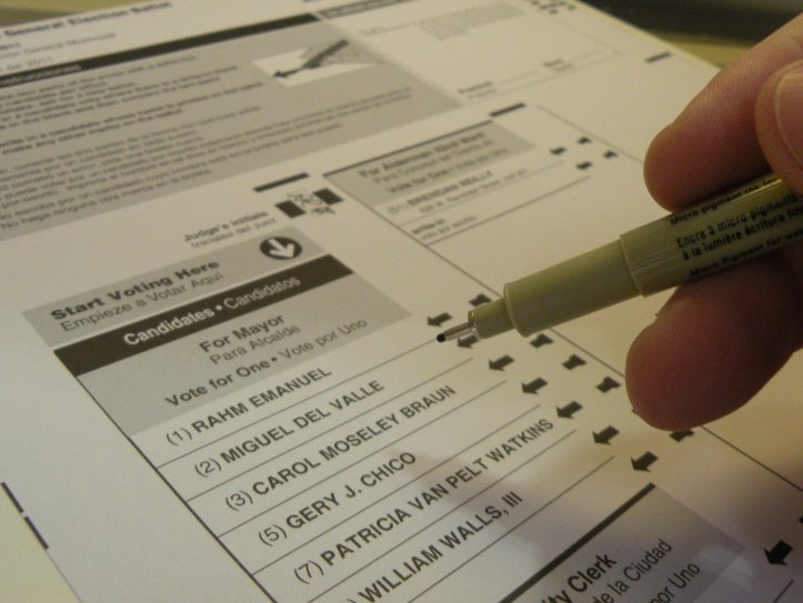 2011 Chicago mayoral ballot. (John W. Iwanski/Flickr | CC BY-NC)