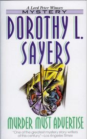 Dorothy L. Sayers, Murder Must Advertise, book cover.