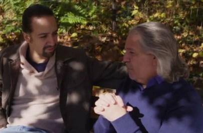 Lin-Manuel Miranda and Luis Miranda Jr., in Hamilton's America