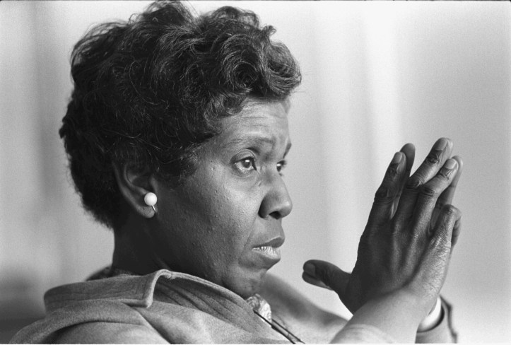 Barbara Jordan during an interview (with Lady Bird Johnson and Liz Carpenter) for Family Circle magazine in 1976. (Frank Wolfe/LBJ Library #B6015-20 | Public domain)