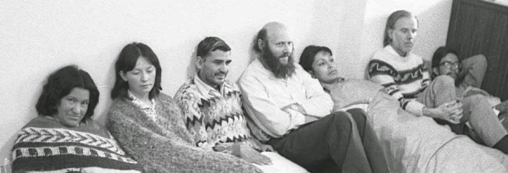 Domitila de Chungara, Xavier Albo, Luis Espinal, Rufus and other human rights activists on hunger strike in 1977-1978.