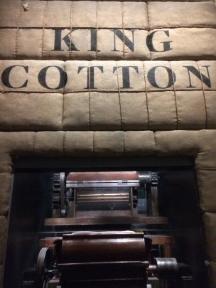 "A photo of the ""King Cotton"" exhibit at the NMAAHC. (Laura Ansley/Nursing Clio 