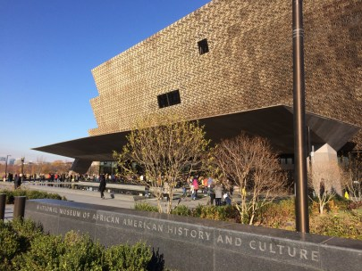 An exterior view of the National Museum of African American History and Culture, in Washington, DC. (Laura Ansley/Nursing Clio | CC BY-NC-SA)