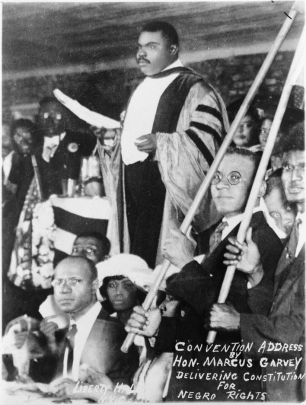 Garvey speaking at a UNIA meeting in 1920. (New York World-Telegram & Sun Collection/Library of Congress)