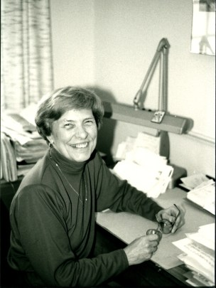 Joan Forsberg. (Courtesy of Yale Divinity School Memorabilia, RG 53, Series 5: Faculty Photos.)