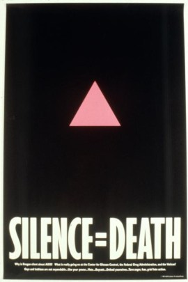 """Silence = Death"" poster by Gran Fury, published by ACT UP in 1986. (Silence = Death Project/New York Public Library Digital Collections)"