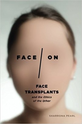 Book jacket, a white woman's face is blurred out, and the words FACE ON with a slash between them is centered.