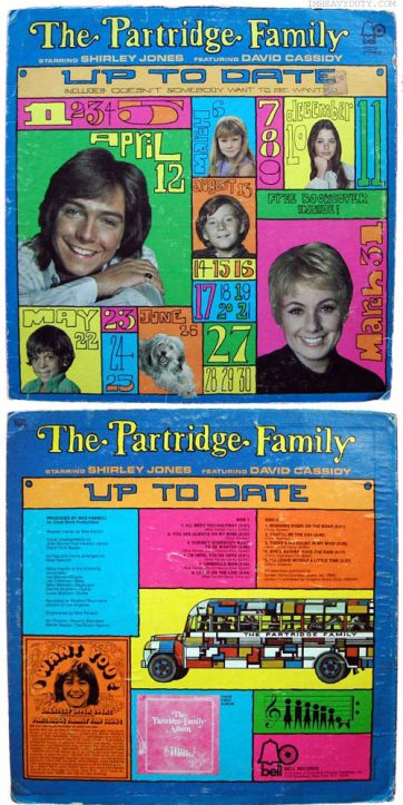 Colorful album cover featuring the headshots of each member of the Partridge Family.