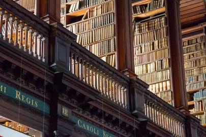 Photo of shelves of books.
