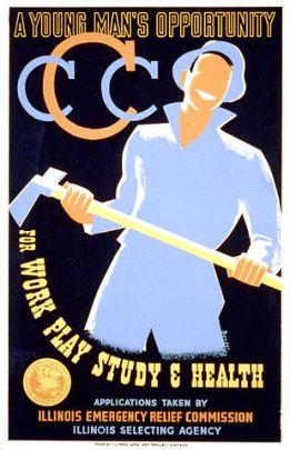 Color artwork of a man holding a big ax.