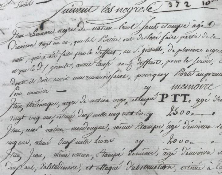 A close-up of cursive handwriting.