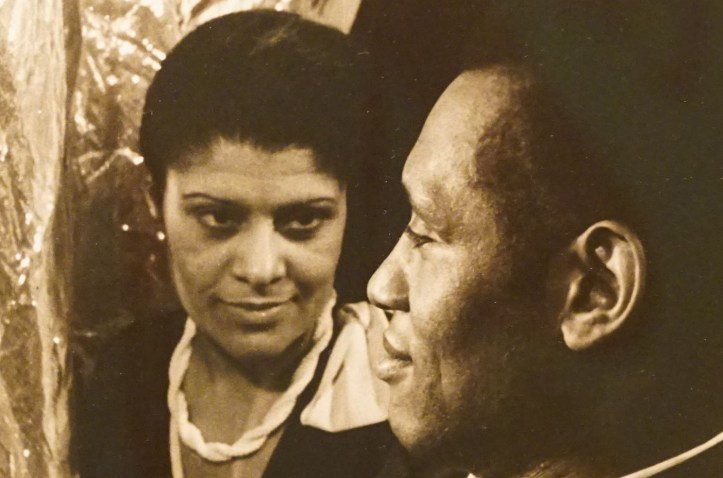 Eslanda Goode Robeson and her husband, Paul Robeson. He is in profile in the right of the image, she looks at him with a little smile on her face.