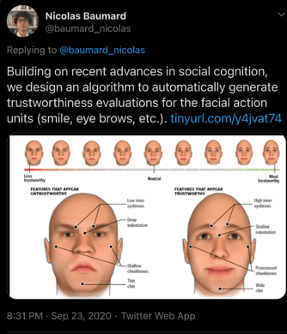 Screenshot of Nicolas Baumard's tweet